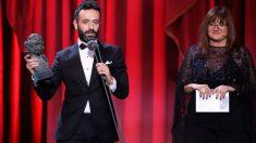 Rodrigo sorogoyen recibiendo el Goya a Mejor Director de 2019. Foto: Europa Press