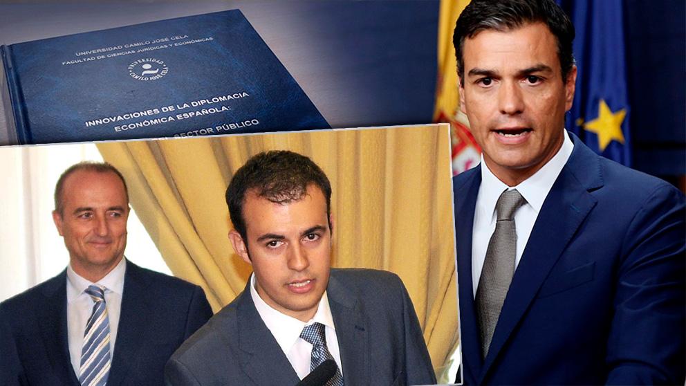 Pedro Sánchez (d), Carlos Ocaña (c) y Miguel Sebastián.