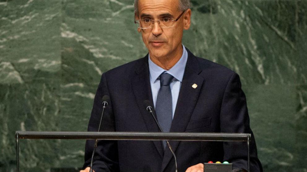 El ex jefe del Gobierno de Andorra, Antoni Martí, el pasado mes de septiembre durante su intervención ante la asamblea de la ONU.