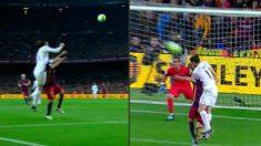 Acción en la que Bale cometió, a ojos del árbitro, falta sobre Alba.