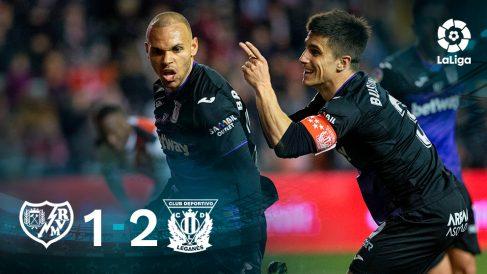 El Leganés gana al Rayo Vallecano. (1-2)