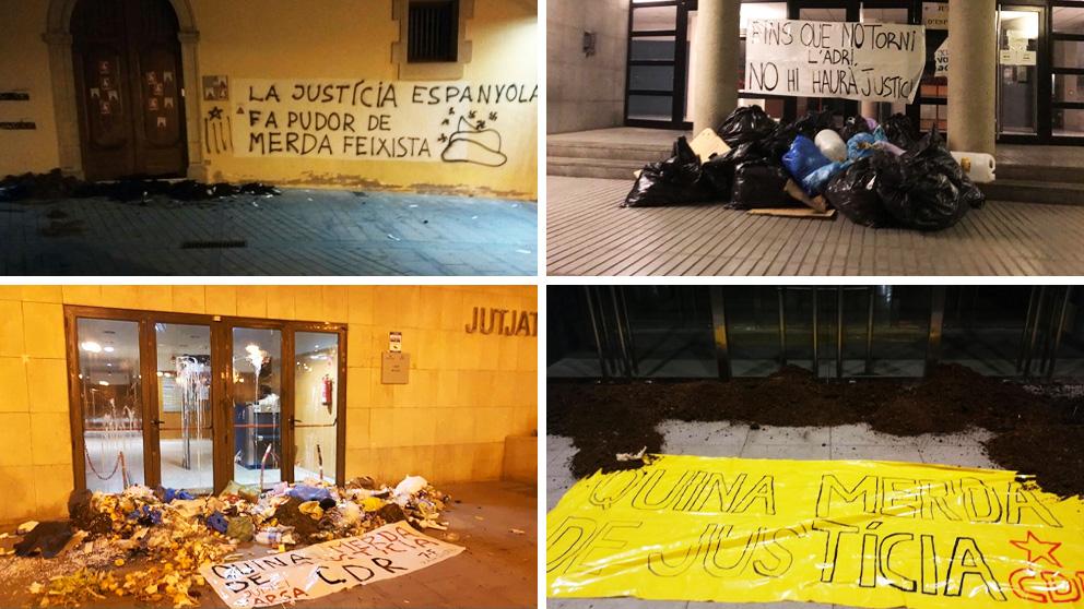 Los CDR atacan con basura y excrementos varios juzgados de Cataluña