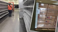 Material humanitario procedente de Estados Unidos y un supermercado de Venezuela semivacío