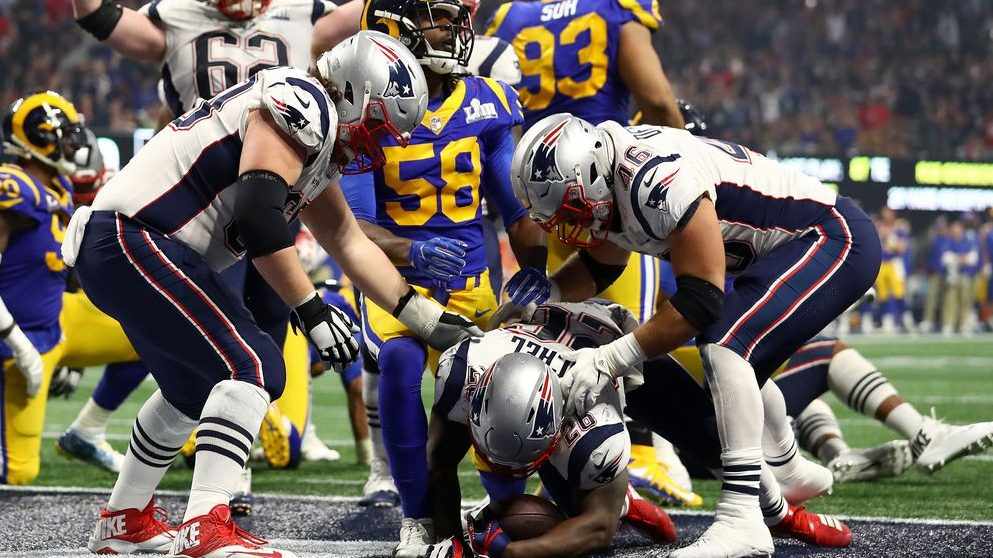 New England Patriots vencen en la Super Bowl LIII ante los New England Rams Getty)