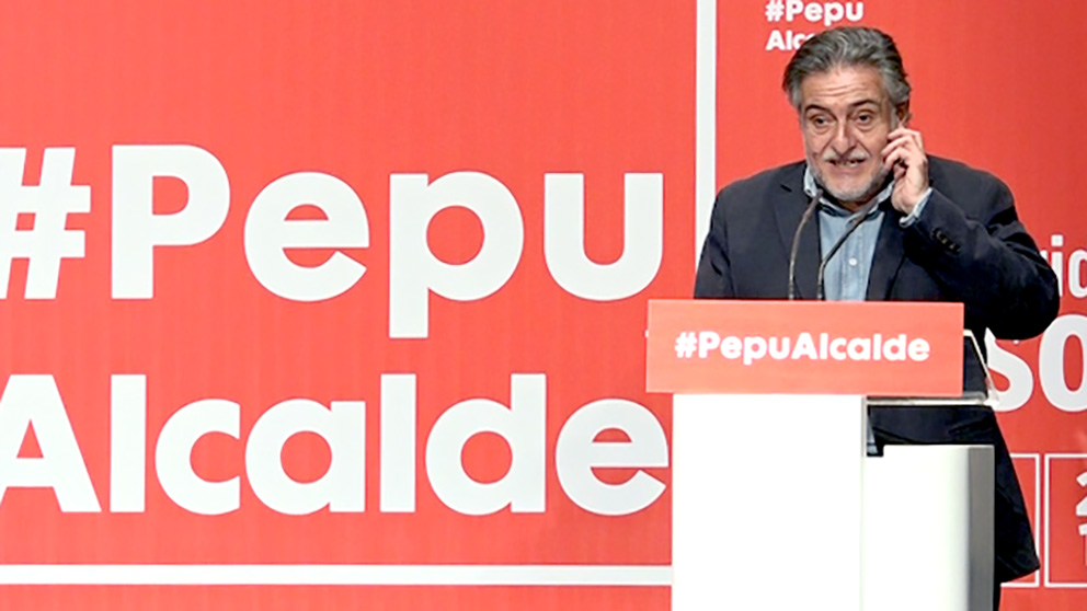 Pepu Hernández, este domingo, durante la presentación de su candidatura a las primarias. (Foto: Enrique Falcón)