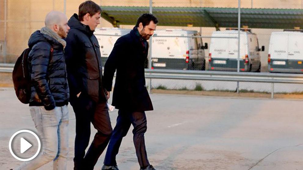 El presidente del Parlamento catalán, Roger Torrent, visita a los presos golpistas en la cárcel de Soto del Real