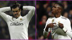 Bale o Vinicius, la única duda de Solari en la alineación del Real Madrid que jugará ante el Barcelona.