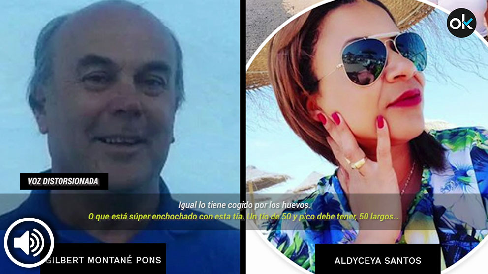 El vicepresidente de JOCS S.A., Gilbert Montané, y la brasileña Aldyceya Santos.