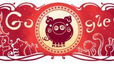 El año del Cerdo es el protagonista del Doodle de Google