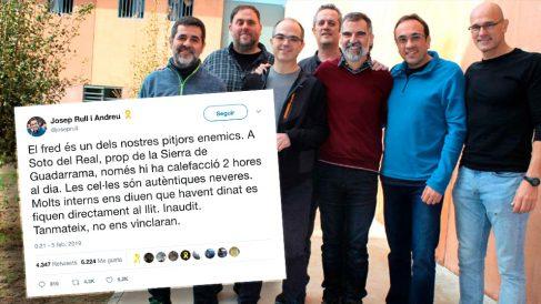 """Josep Rull denuncia que las celdas de Soto del Real son """"autenticas neveras""""."""