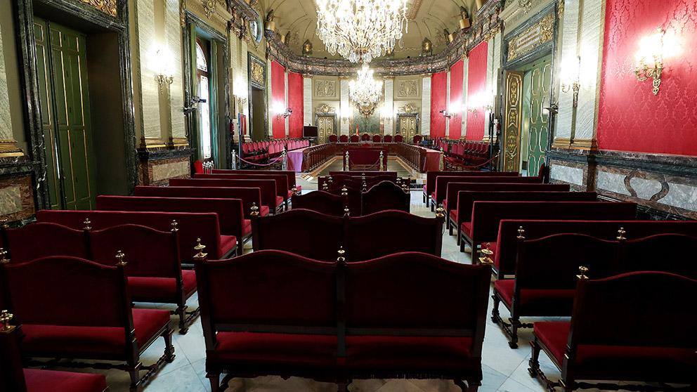 Sala del Tribunal Supremo donde tendrán lugar los juicios del procés. (Foto: Agencia EFE)