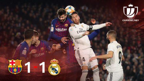 Barcelona y Real Madrid firmaron un 1-1 en el Camp Nou en la ida de las semifinales de Copa.