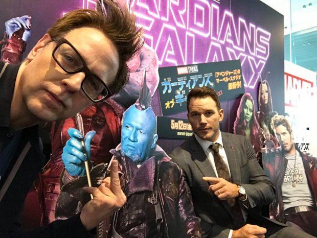 'Guardianes de la galaxia' - James Gunn y Chris Pratt