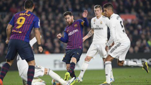 Leo Messi en el Barcelona – Real Madrid de Copa (AFP)