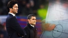 Solari aprobó con nota el examen del Camp Nou.