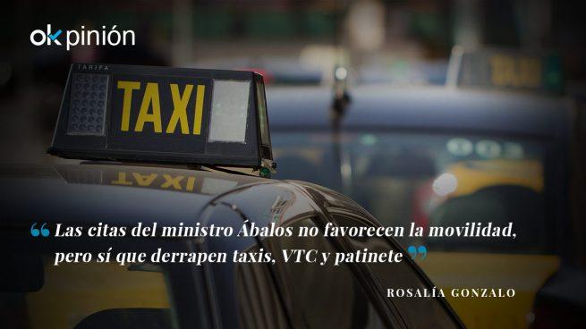 Taxis, patinetes y citas de Ábalos