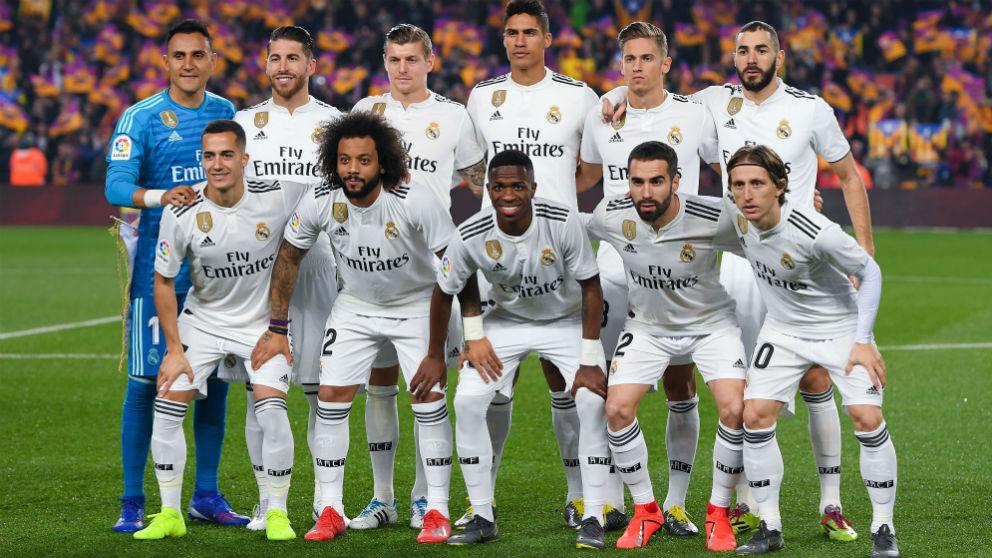 Los jugadores del Real Madrid posan en el Clásico. (Getty)