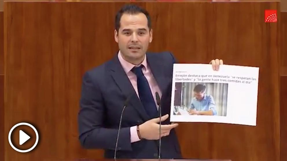 Ignacio Aguado en la Asamblea de Madrid (Ciudadanos).