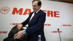 Antonio Huertas, presidente de Mapfre, durante la presentación de resultados de la compañía en 2018