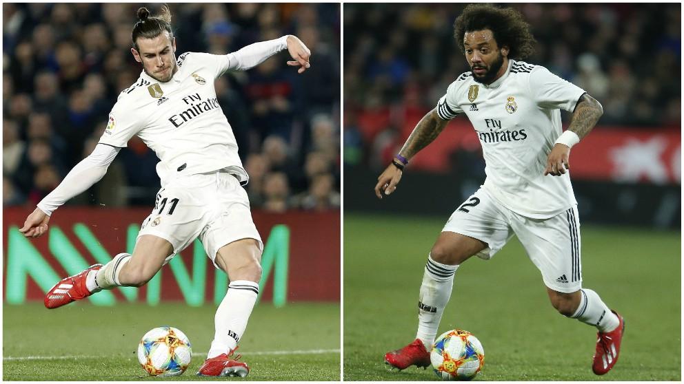 Gareth Bale y Marcelo.