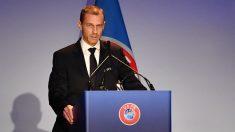 Aleksander Ceferin, presidente de la UEFA. (AFP)