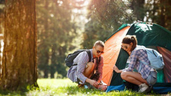 acampar montaña