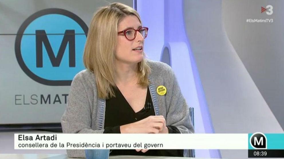 Elsa Artadi en una entrevista en TV3.