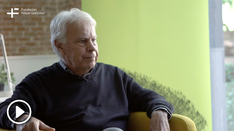 Felipe González en el vídeo elaborado por su fundación.