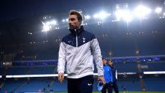 Christian Eriksen, antes de un partido con el Tottenham Hotspur. (Getty)