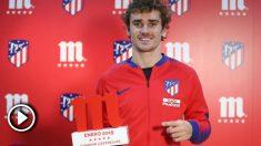 Antoine Griezmann, 'Jugador 5 estrellas' del Atlético de Madrid en el mes de enero.