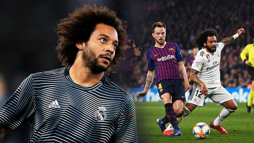 Marcelo puede ser titular en la alineación del Real Madrid ante el Barcelona.
