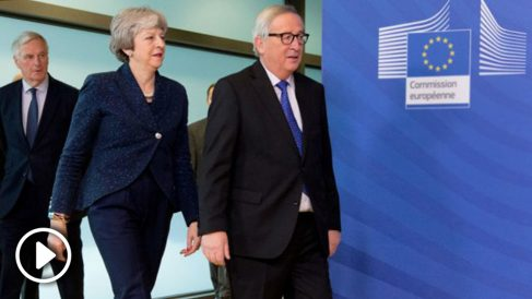 May y Juncker. Foto: Europa Press
