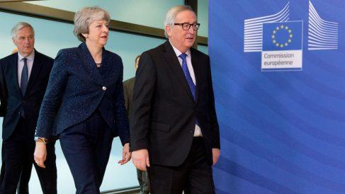 May y Juncker. Foto: Europa Press