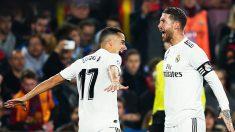 Sergio Ramos y Lucas Vázquez evidenciando el gran momento del Real Madrid.