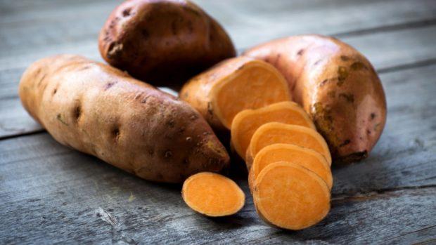 batatas en almíbar