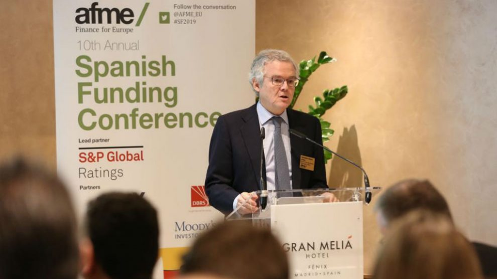 Sebastián Albella (CNMV), durante el acto de AFME