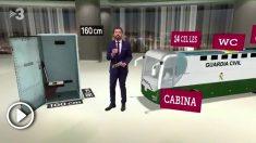 TV3 critica los asientos del autobús que trasladó a los líderes independentistas a Madrid