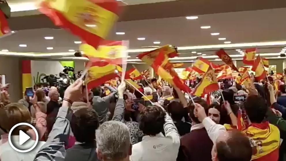 Acto de Vox en Pamplona.