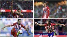 Saúl, Juanfran, Morata y Filipe han pasado por el Real Madrid. (Getty / AFP)