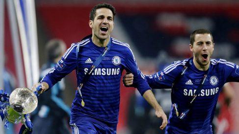 Cesc y Hazard fueron compañeros en el Chelsea.