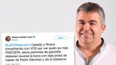 El socialista Santos Cerdán y su polémico tuit