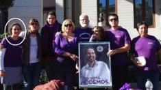 Inscritos de Podemos Galapagar y la candidata elegida a la izquierda. (Foto. FB)