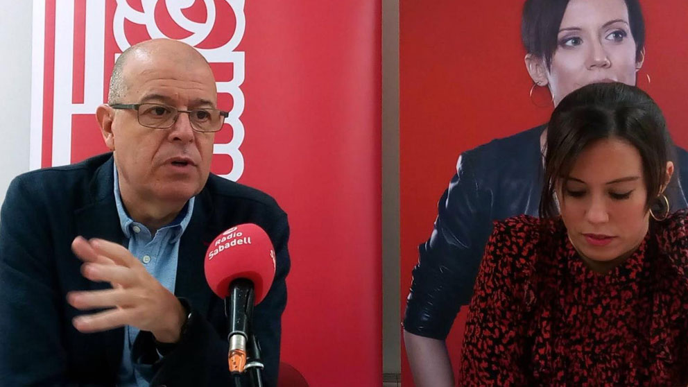 El diputado del PSC en el Congreso José Zaragoza, acompañado de Marta Farrés. Foto: Europa Press