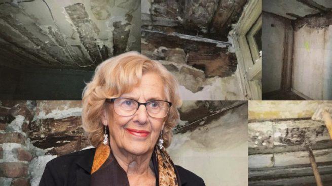 Carmena hace oídos sordos a la denuncia de un edifico en riesgo de derrumbe en la calle Carretas