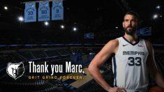 Marc Gasol, leyenda de los Memphis Grizzlies.