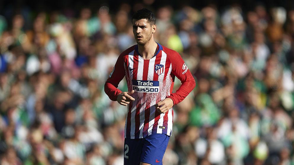 Álvaro Morata durante el Betis – Atlético de Madrid. (Getty)