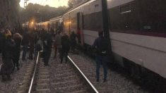 Imagen de archivo de un accidente de tren en la línea 4 de Rodalíes