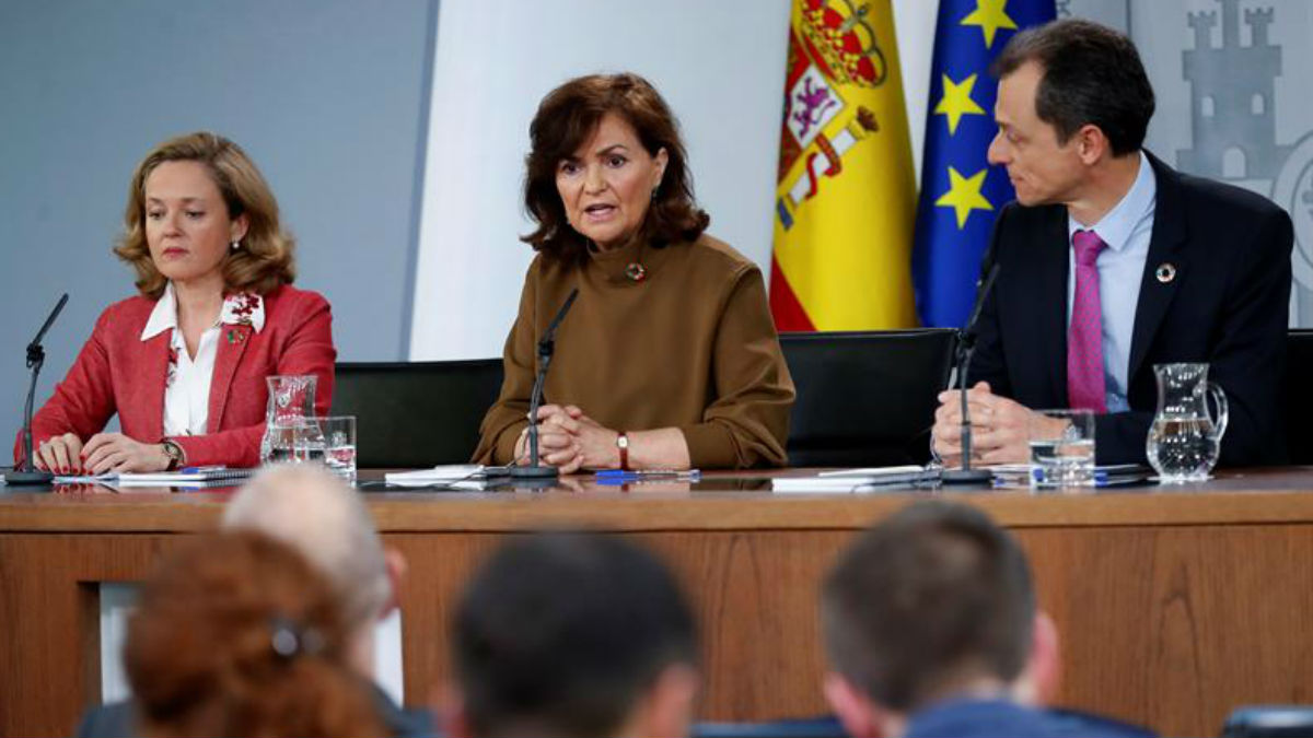 Rueda de prensa tras el Consejo de Ministros (EFE).