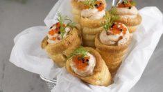 Receta de Conos de salmón