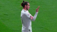 El corte de mangas de Bale tras su gol.